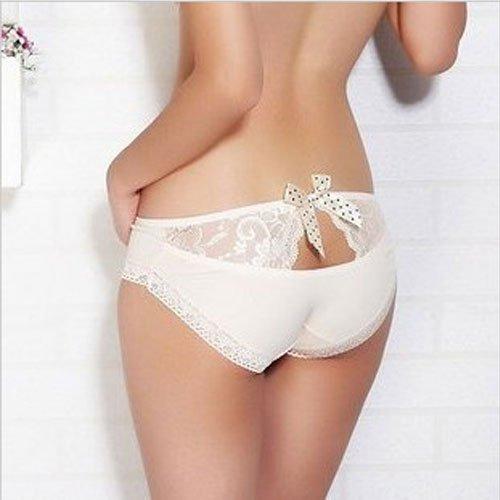 02 Free Shipping Wholesale 6 PCS/lot Sexy Cotton Hiphuggers Bowknot Women Panties Lucency Lace Briefs Fashion Underwear