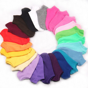 1 lot=20pcs=10pairs women cotton socks sports sock boat sock 10pairs mix color available 1010123