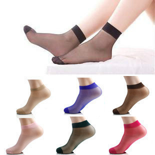 1 lot =30pairs=60pieces One Size Crystal Sock Sexy Ultra-Thin Stockings Free Shipping