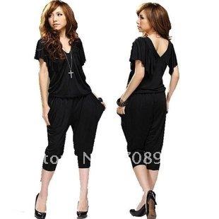1 Piece Best Selling!! Lady's Halter Design Blouse Jumpsuit Women's jumpsuit+Free shipping