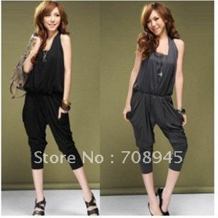 1 Piece Best Selling!! Lady's Halter fashion Women's jumpsuit+Free shipping