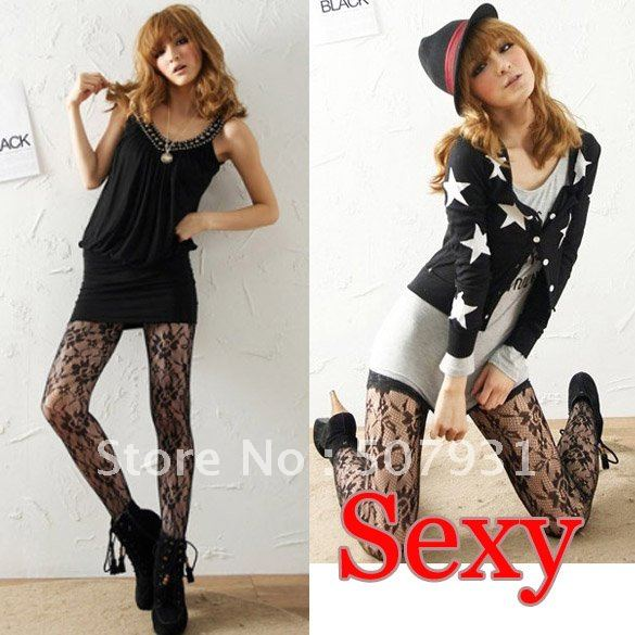 $ 10 OFF per $100 order+ New Women Large Rose Patterns Tight Pants Stockings Little Sexy Legging Fashion