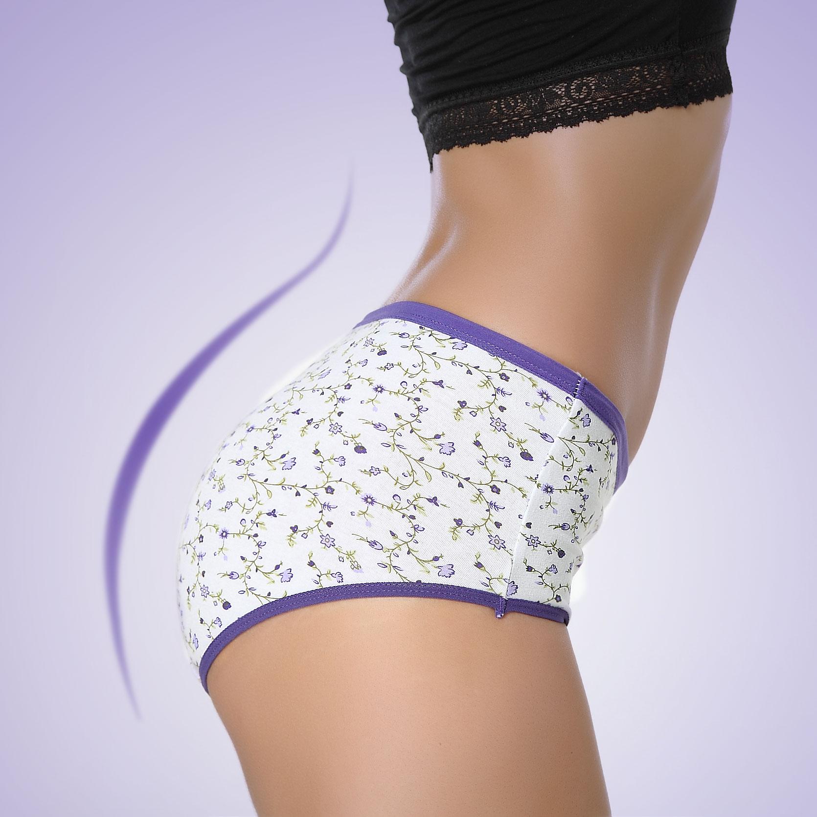 100% cotton panties women's mid waist plus size ladies' underwear sexy briefs for women