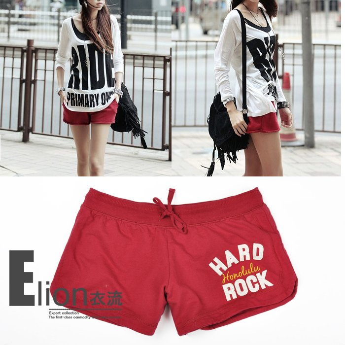 100% cotton quality stick small wool circle moisture wicking low-waist women's casual shorts