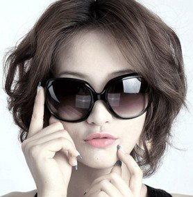 100% UV resistance  material Round glasses frame  sexy women's sunglasses(2color mix)SN-004