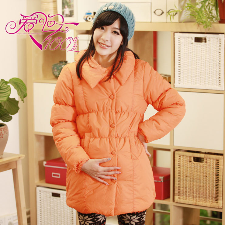 100% y2003 love maternity clothing maternity top wave square collar maternity wadded jacket