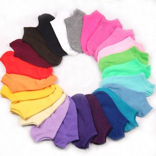 10pair men/ women candy color invisible socks ship socks/random