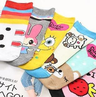 10pairs/lot Cartoon socks Straight sox (20 style) Free shipping+Wholesale