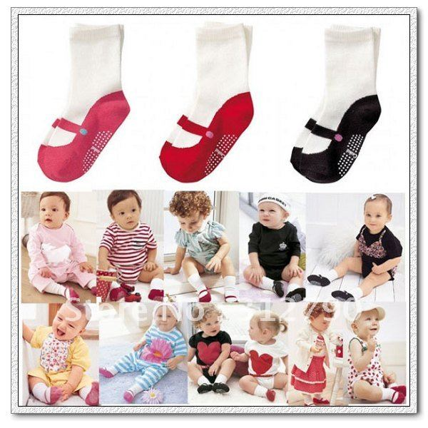 10pairs/lot free shipping 100% new 3color baby socks baby product child's socks baby wea Anti-Slip