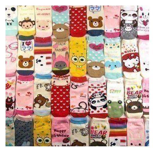 10pcs 1 set New Arrival Lovely Cartoon Sox Socks Stockings Randomly different style free shipping