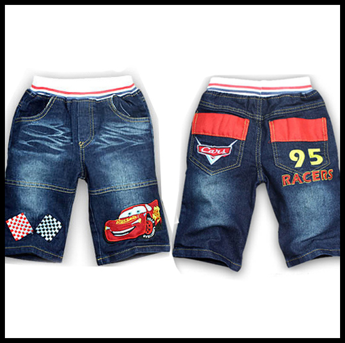 12-021 2013 new 6pcs/lot mcQueen cars short  jeans pants for children boys ans girls baby pant Free shipping