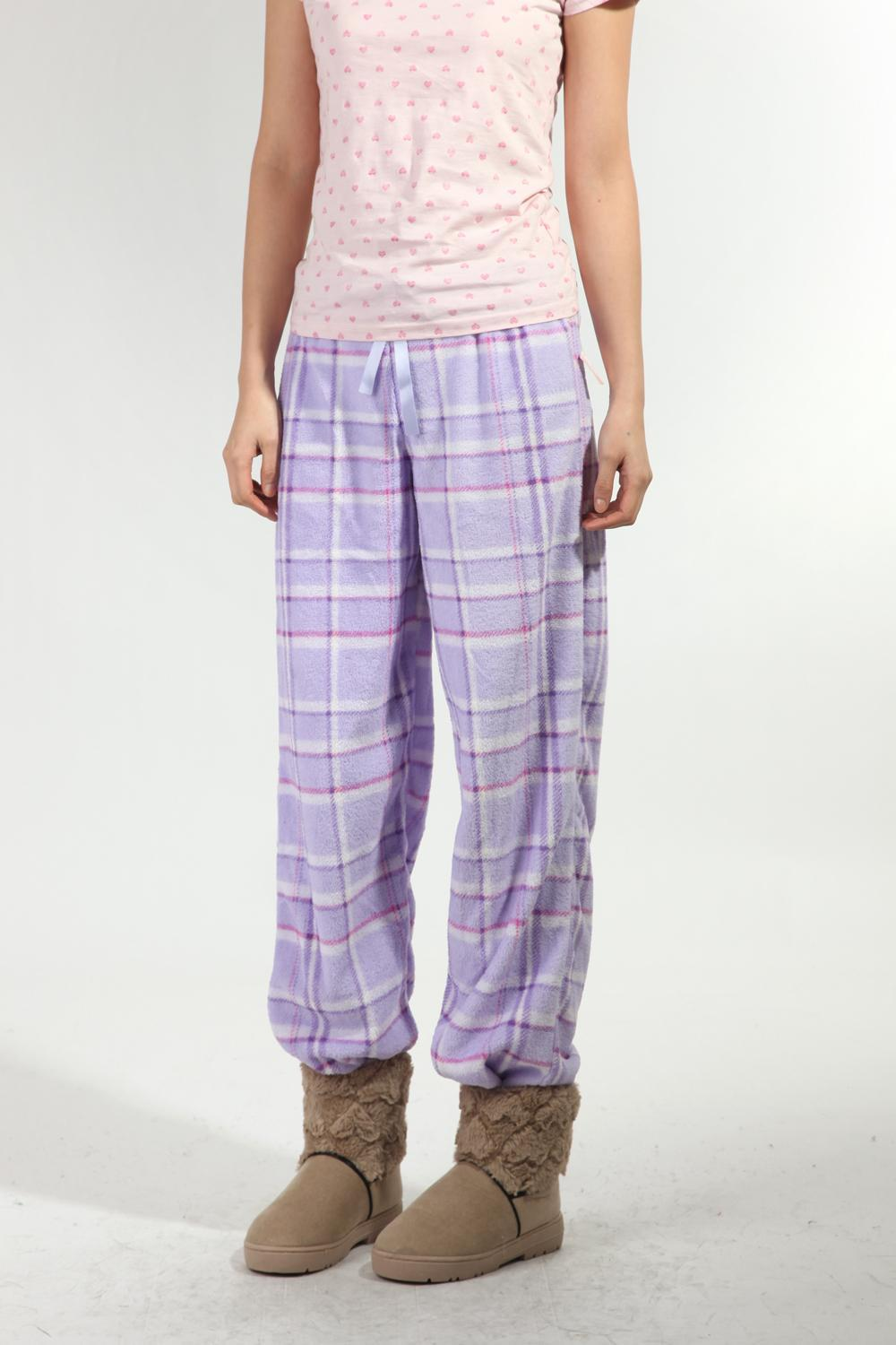 12 autumn and winter Women coral fleece home casual trousers pajama pants 1 p5 k125 (WC001)