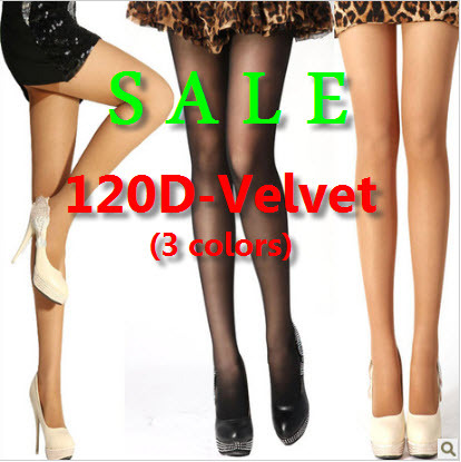 120D Thickness Velours Tights Slim Stretch Pants, 120d Velvet Pantyhose Sockings For Woman Sexy