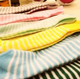 12pairs/lot Women Candy Color Striped Sock SOX Free Shipping