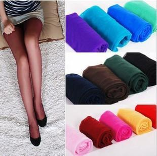 $15 off per $150 orde free shipping Ultra-thin candy color stockings velvet pantyhose summer socks female 15d