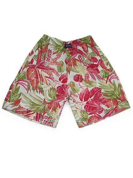 $15 off per $150 order Cotton Women's Shorts Pants Casual Hawaiian Beach Style Red Leaves Prints Retail Seniya&Coozy