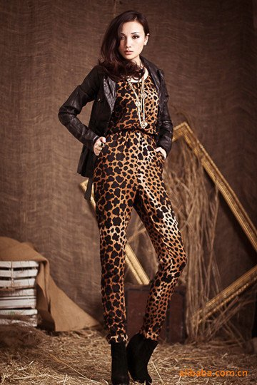 [1746]2012 Spring Hot sale LADIES leopard print Jumpsuits, fashion jumpsuits/WOMEN'S jumpsuits wholesale