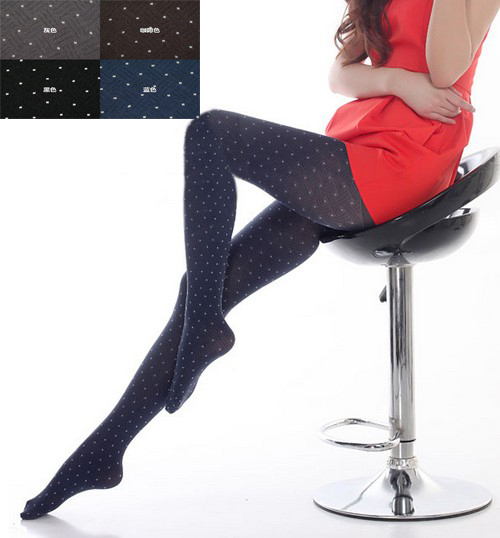 1pc/lot ,Lady Dots Opaque Pantyhose Stocking Leggings Tights  For Women 650848