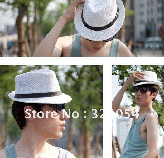 1pcs,Memories of the popular adult strawJazz caps, leather belt men and women straw hats,  more color, free shipping