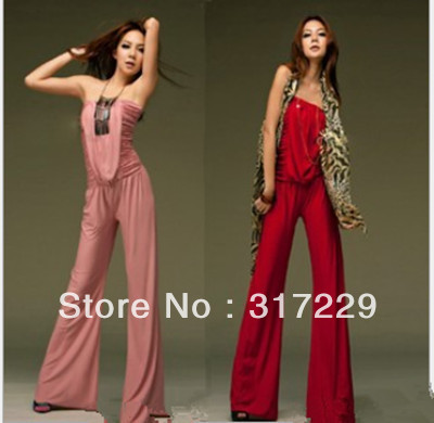 1PCS New Fashion Woman Cotton Slim Wrapped Chest Leisure-piece Bell-bottoms Wild Dress Pants FZ049