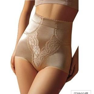 2 high waist abdomen panties drawing butt-lifting panties body shaping panties corset pants female