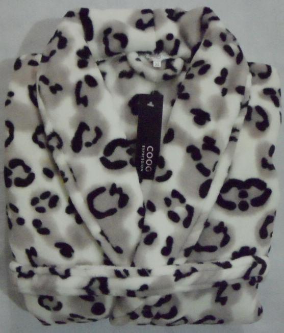 2 ultrafine thickening coral fleece sleepwear robe bathrobes lovers leopard print flannel ,Free shipping