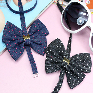 2011 fashion metal decoration dot faux denim bow halter-neck shoulder strap underwear belt