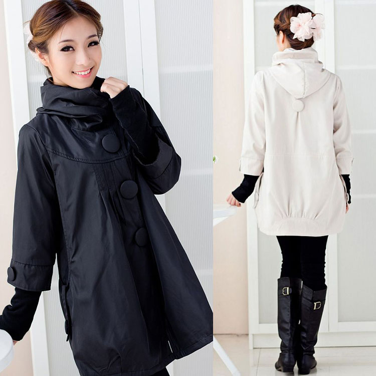 2012 autumn and winter  fashion maternity trench maternity top maternity outerwear wadded jacket ol