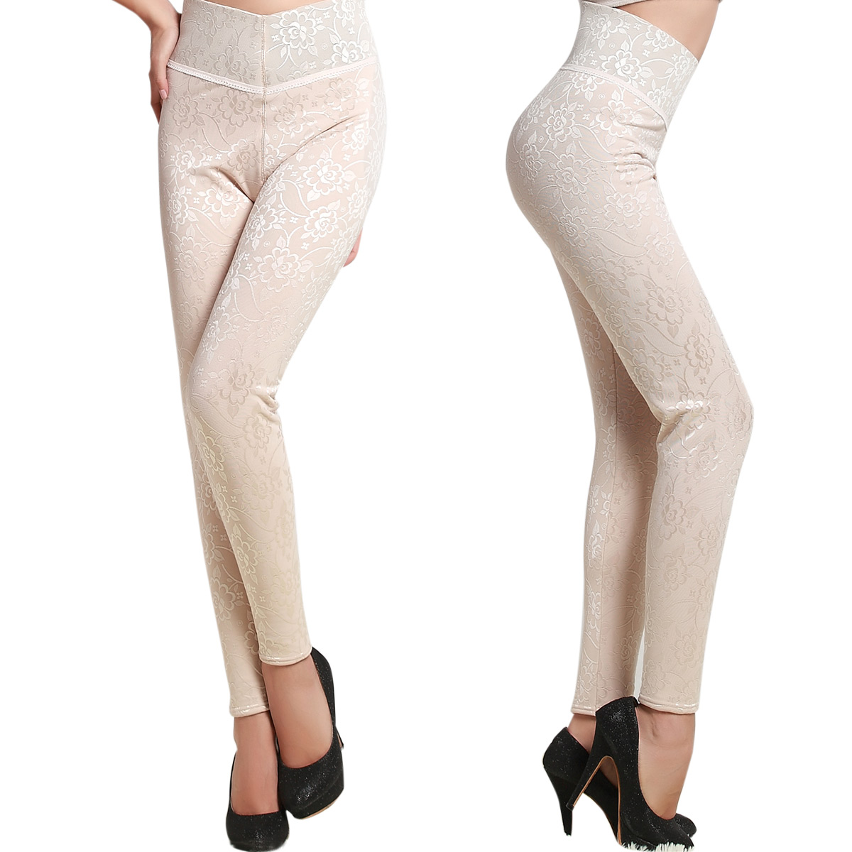2012 autumn and winter high waist abdomen drawing butt-lifting magnetic therapy body shaping thermal legging bk113