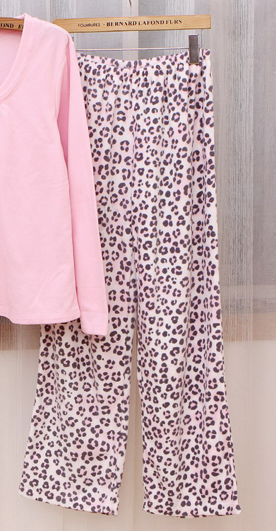 2012 autumn and winter new arrival Women polar fleece fabric thermal derlook trousers pajama pants plus size 44-2k40