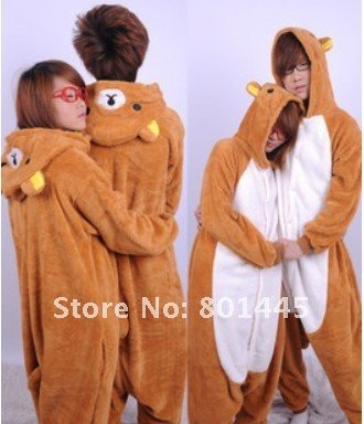 2012 autumn fleece romper bear design nonopnd love one piece stretchy sleepers for 145~185cm free shipping wholesale