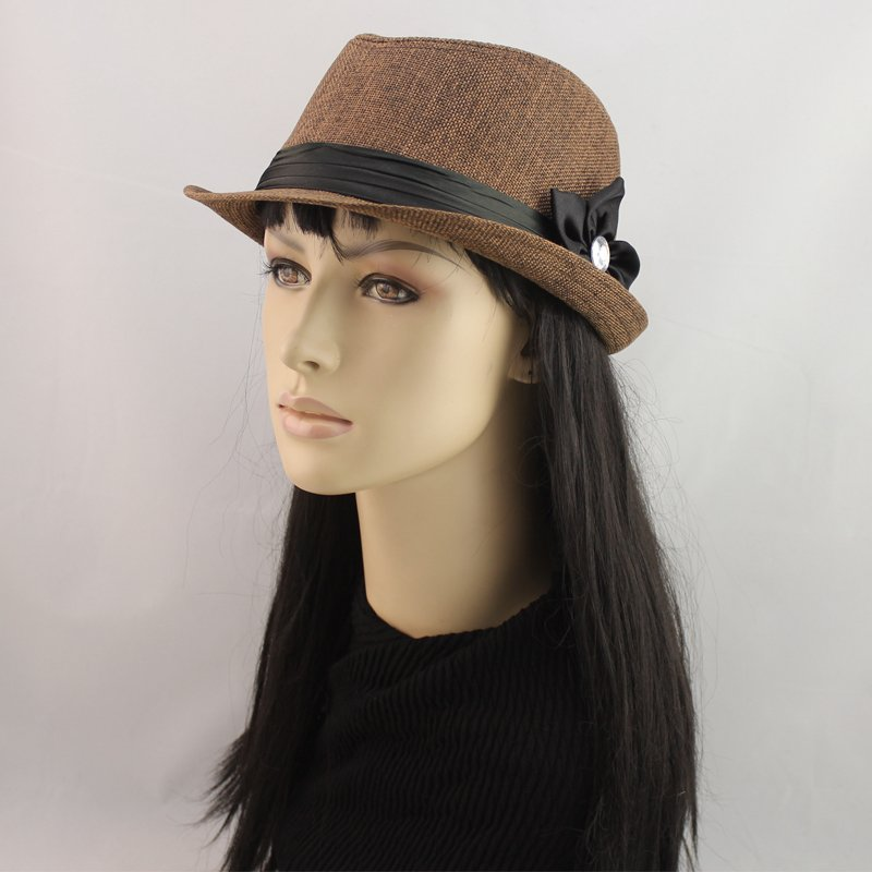 2012 autumn New Women Cotton Nucellus Five petal Fedoras bowler hat 8 Colors B12053 Free Shipping