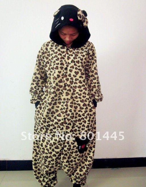 2012 Autumn spring fashional Leopard adult romper nonopnd one piece stretchy sleepers fleece for 155~182cm free shipping