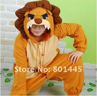 2012 Autumn spring long sleeve fleece romper nonopnd one piece stretchy sleepers lion design for 145~188cm free shipping