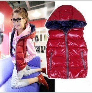 2012 autumn winter fashion women's hoody thermal wadded jacket cotton-padded Vest Sleeveless outerwear 4colors;Free shipping
