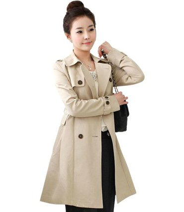 2012 autumn winter slim long outerwear coat for women Double-breasted jacket free shipping WWF014