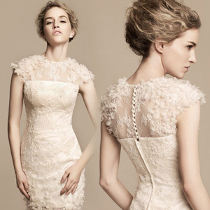 2012 bridal dress evening dress evening dress short design slim hip fashion