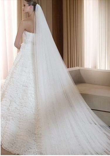 2012 bridal veil aesthetic elegant hair accessory wedding double layer veil  two layers with with comb extra long