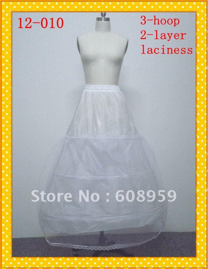 2012 Cheap Discount  Hoop Layer Wedding Dress Petticoat Crinoline Bridal Slip Skirt Ball Prom Gown