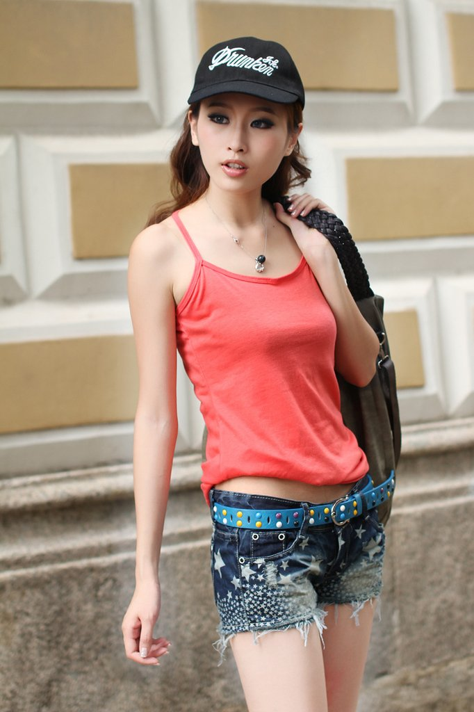 2012 distrressed slim all-match Women denim shorts 1023