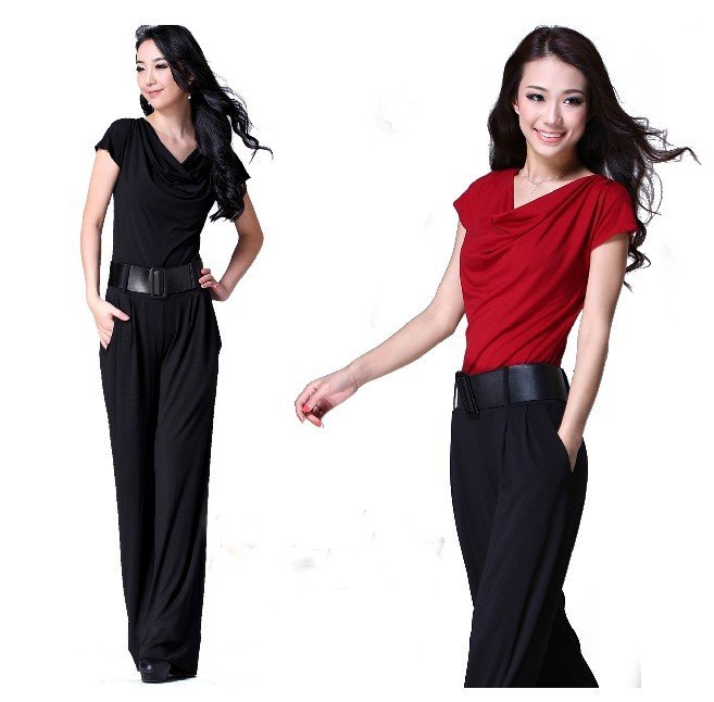 2012 fashion casual pants coveralls European and American models, Ms. Siamese pants.