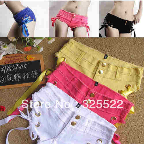 2012 Fashion Cool Low Waist Sexy Hot Women's Short Soft Jean Casual 5 Colors C37