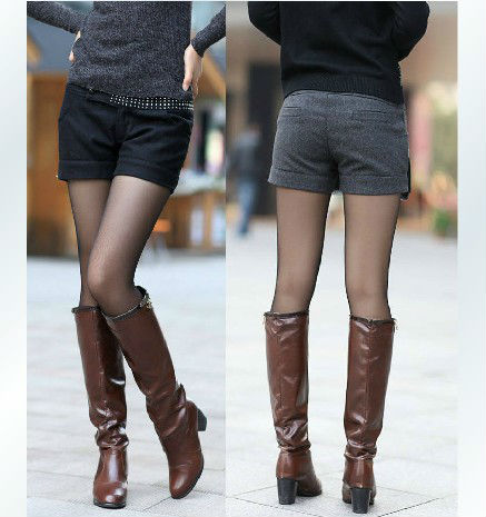 2012 Fashion Korean Shorts Ladies pants,Fashion Slim woolen short trousers for women free shipping LJ317