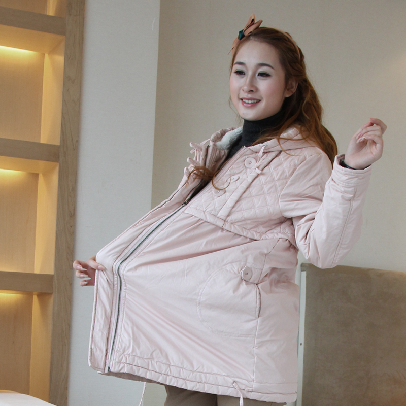2012 fashion maternity clothing autumn and winter berber fleece wool thickening long-sleeve outerwear top