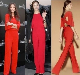 2012  Fashion Paris Famous star favorite backless cross belt Jumpsuits Long Pants High Quality Free Shipping S/M/L WD28