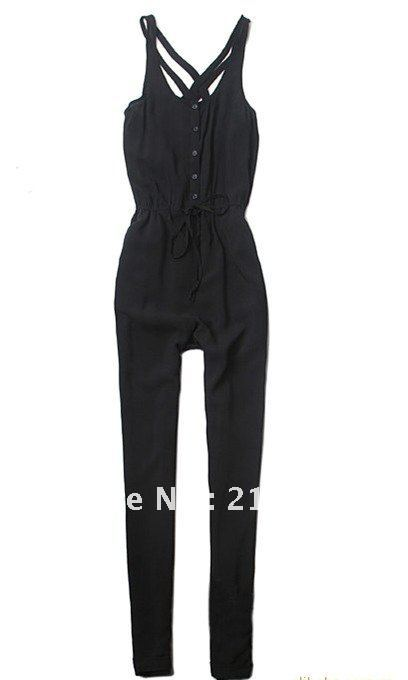 2012 Fashion trendy casual women spring autumn jumpsuits vest style pants jumpsuit, special pants,fashion clothing free shipping