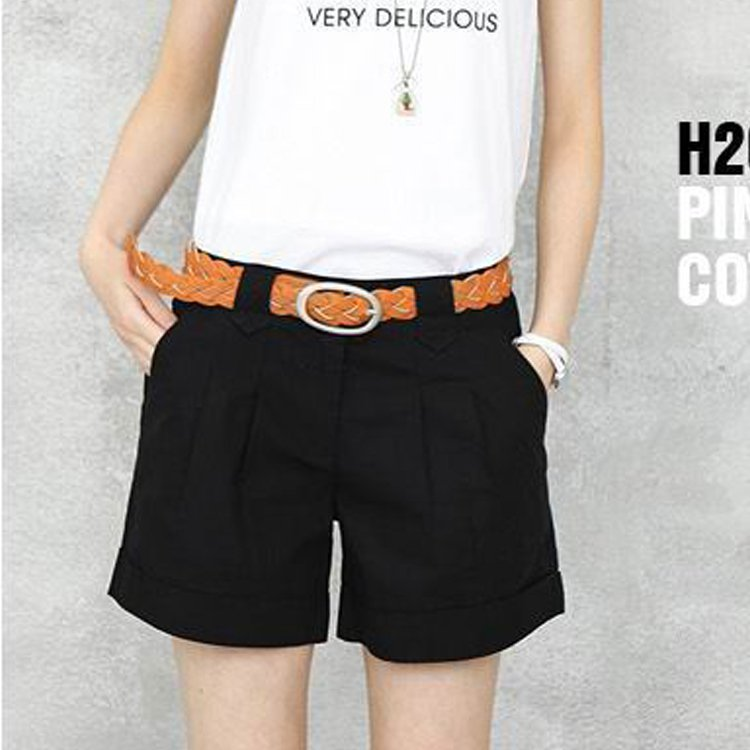2012 female casual roll-up hem pants plus size loose casual shorts