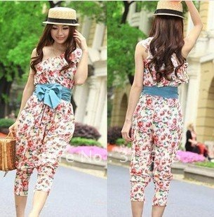 2012 flower first in summer! free ship! women Jumpsuits & Rompers /Harem pants /pants/capri pants /Cropped Trousers/shorts