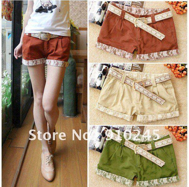 2012  free shipping  Candy color restores ancient ways  hot sale  women's shorts