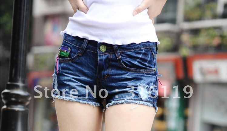 2012 FREE SHIPPING Color zipper bull-puncher knickers hot pants explosion of 321